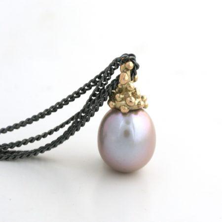 guldvedhæng perle