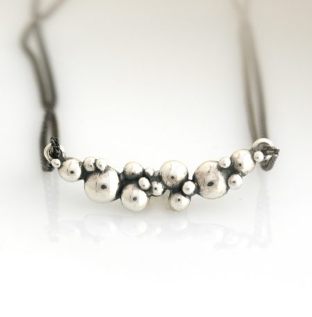 sølv halskæde bobler
