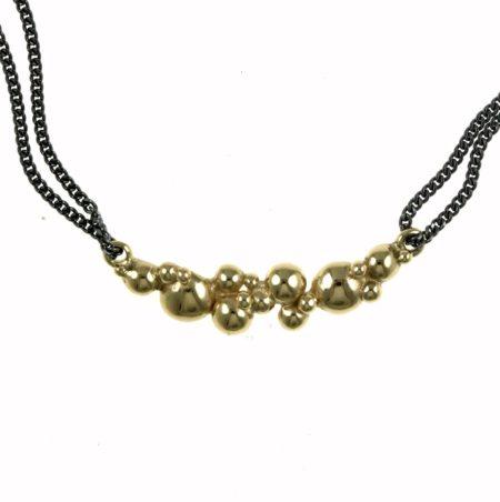 halskæde guld sølv