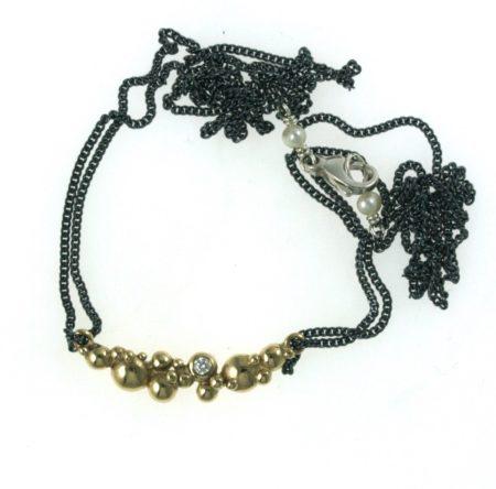 guld og sølv halskæde