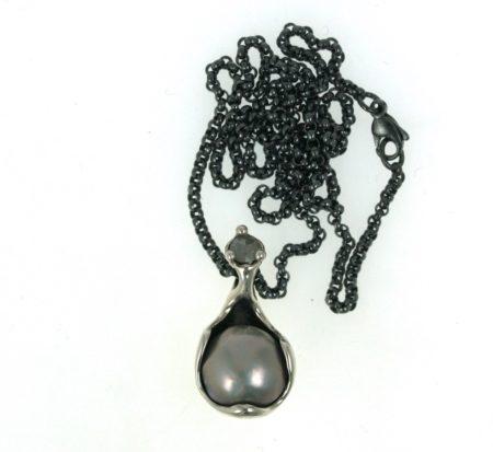 sølvkæde perle diamant