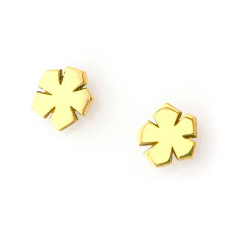 blomst øreringe guld Christel Kaaber Guldsmedie