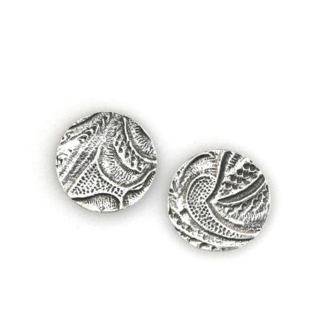 Øreringe med blondemotiv i sølv. Håndlavet af Christel Kaaber Guldsmedie