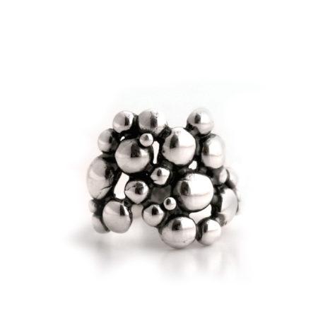 Bred boblering i sølv af Christel Kaaber Guldsmedie
