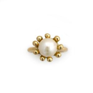 Hvid søanemone ring