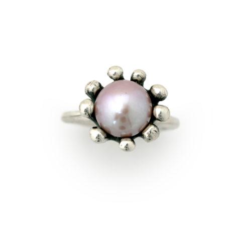 Rosa søanemone ring